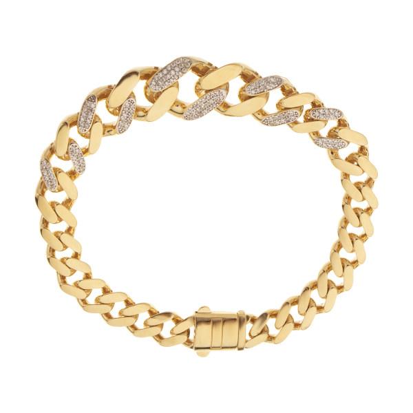 دستبند طلا 18 عیار زنانه مایا ماهک مدل MB1197