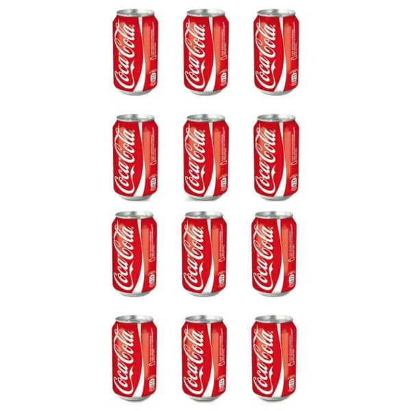 نوشابه کولا کوکاکولا - 330 میلی لیتر بسته 12 عددی