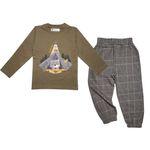 ست تی شرت و شلوار پسرانه مانکی کد RACON_159002