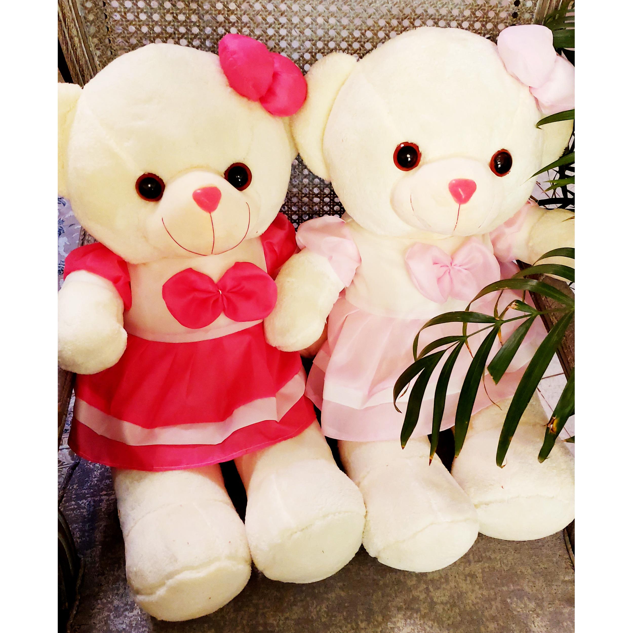 خرید                                     عروسک طرح خرس دختر مدل 80 ارتفاع 80 سانتی متر