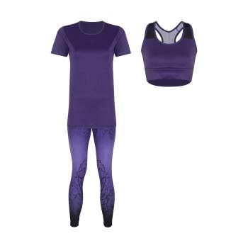 ست 3 تکه لباس ورزشی زنانه مدل Mhr-1002