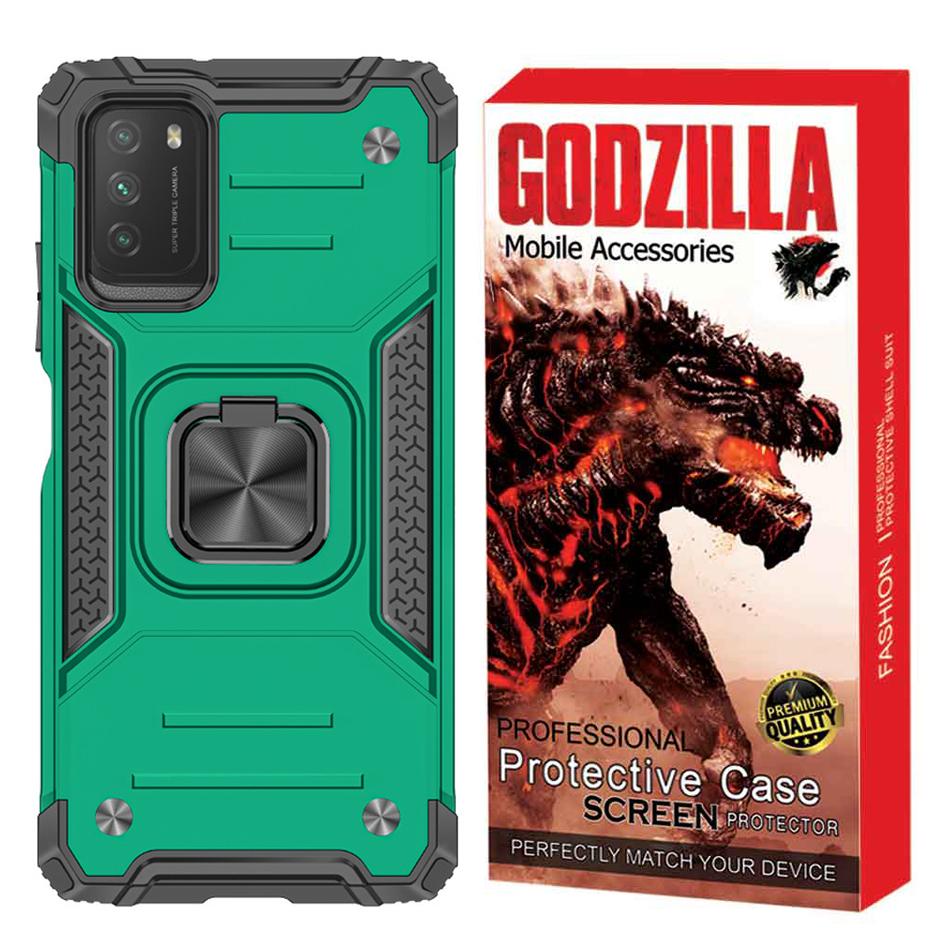 بررسی و {خرید با تخفیف} کاور گودزیلا مدل G-ARMO مناسب برای گوشی موبایل شیائومی Poco M3 اصل