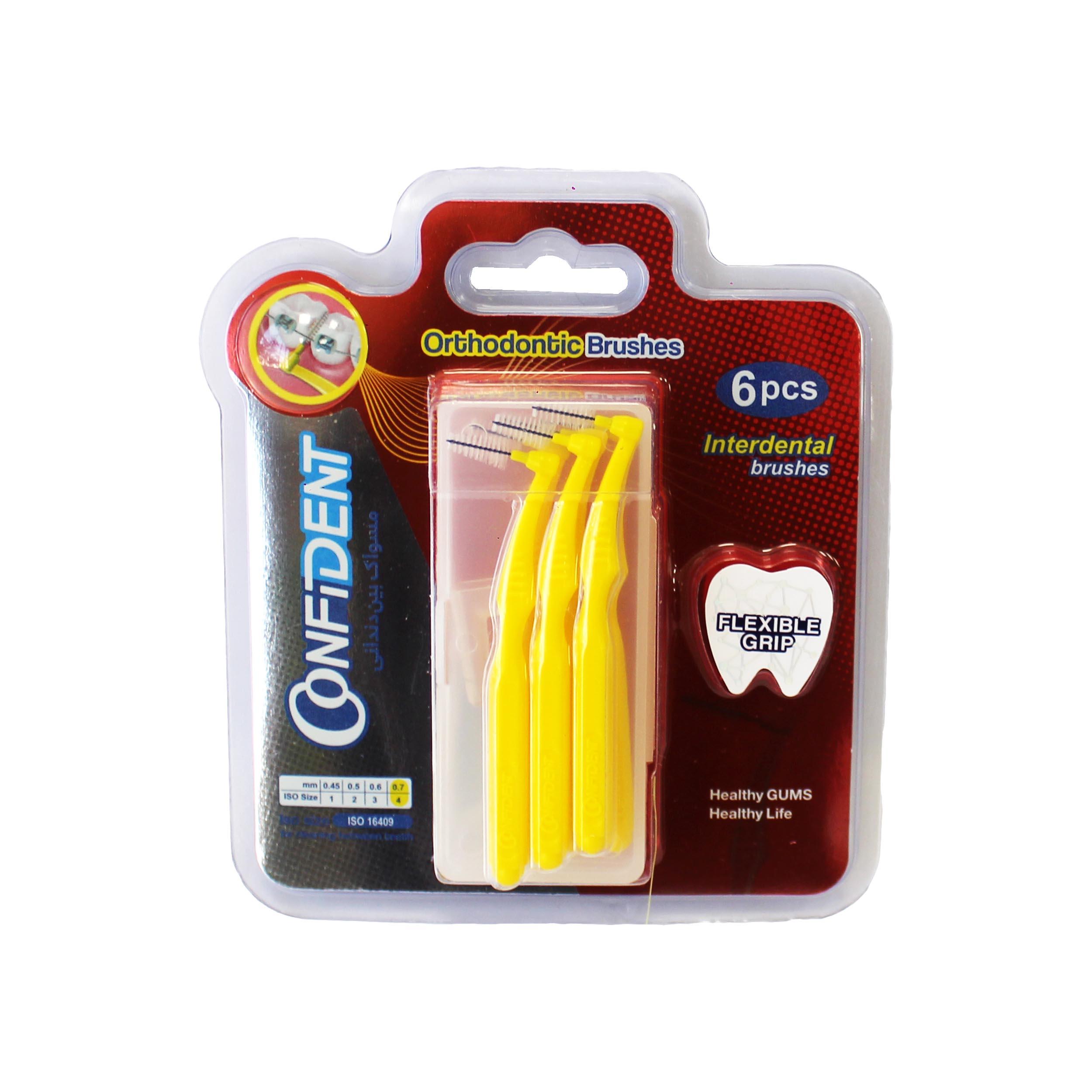مسواک بین دندانی کانفیدنت سایز 4 بسته 6 عددی
