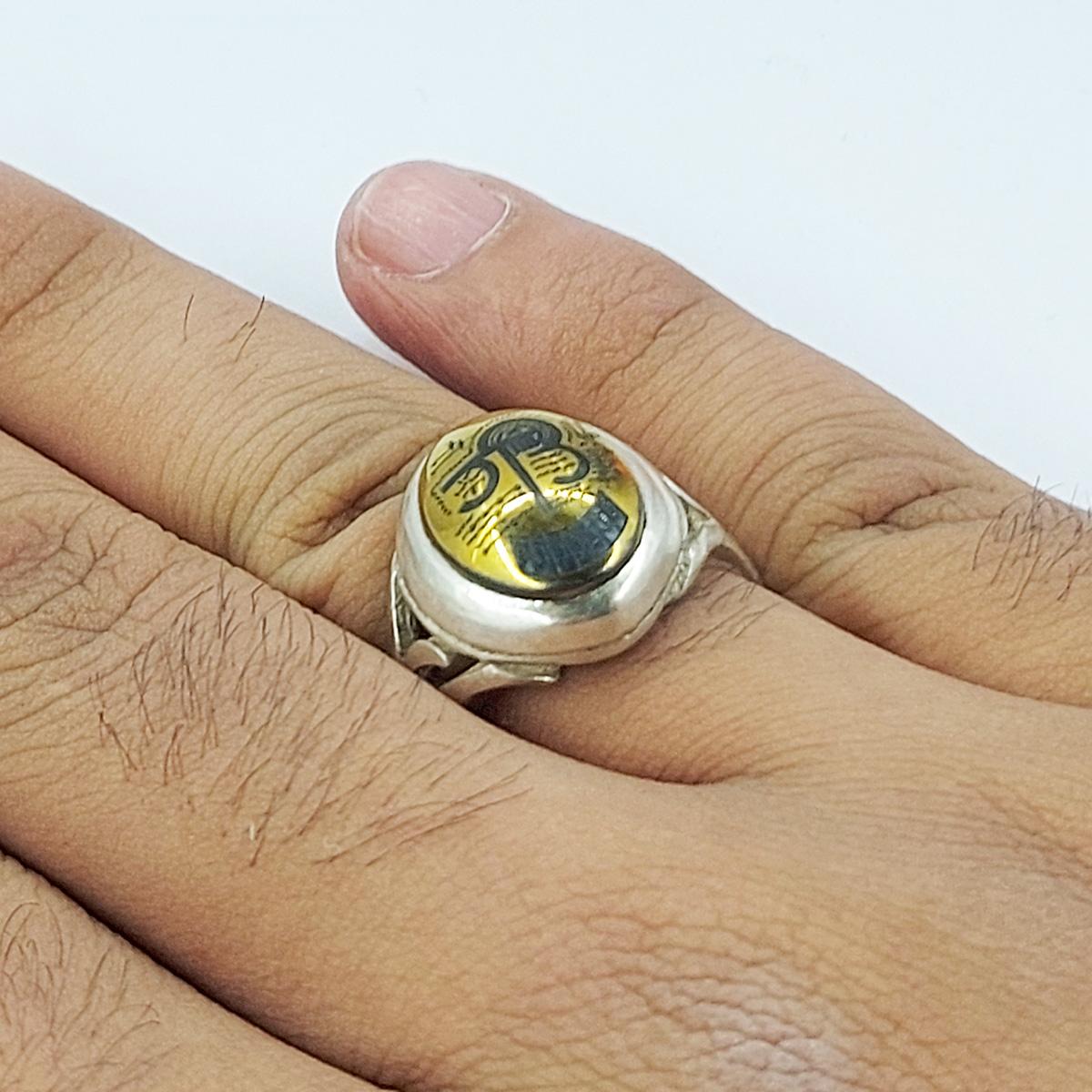 انگشتر نقره مردانه سلین کالا مدل حدید ce-As146