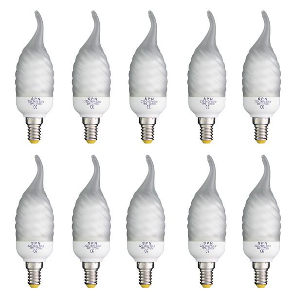 لامپ کم مصرف 9 وات اس پی ان مدل 90 پایه E14 بسته 10 عددی
