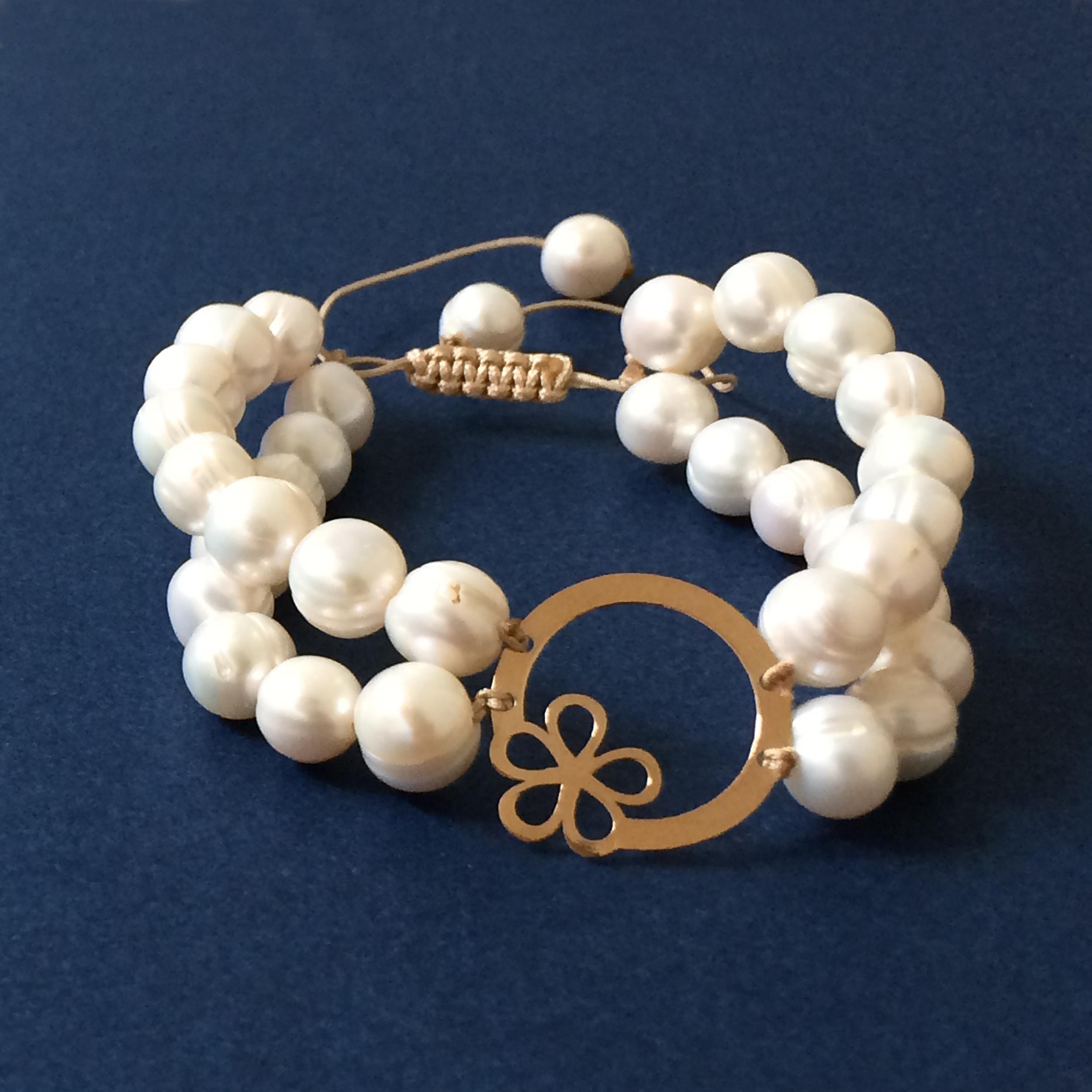 دستبند طلا 18 عیار زنانه الماسین آذر مدل TANAZ01