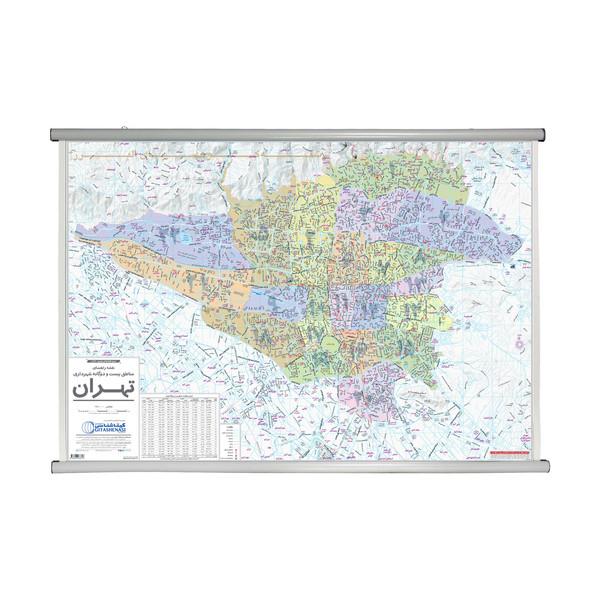 نقشه راهنمایی مناطق 22 گانه شهرداری تهران گیتاشناسی نوین کد L1473
