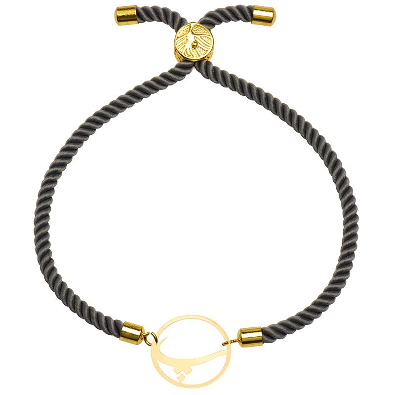 دستبند طلا 18 عیار زنانه کرابو طرح حرف پ مدل Kr2665