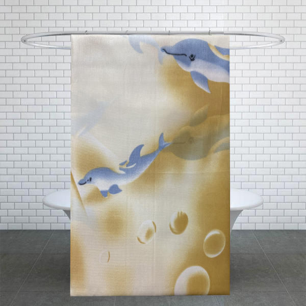 پرده حمام کد PH161 سایز 170x180 سانتی متر