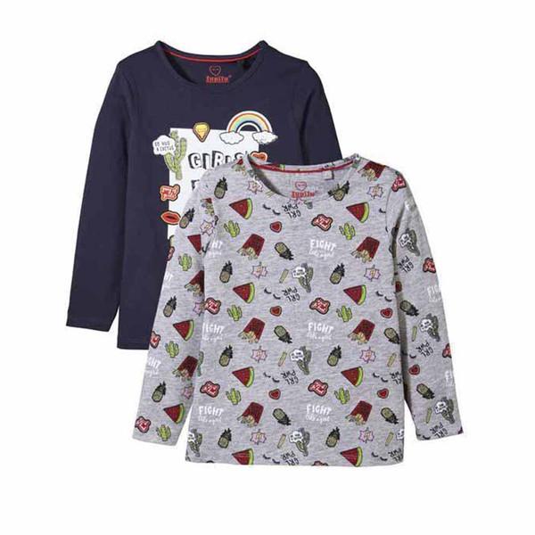 تی شرت دخترانه لوپیلو مدل 293471 مجموعه 2 عددی