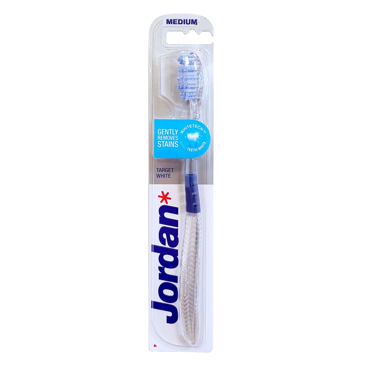قیمت مسواک جردن مدل Target White با برس متوسط