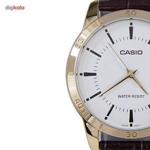 ساعت مچی عقربه ای کاسیو مدل MTP-V004GL-7AUDF مناسب برای آقایان  Casio MTP-V004GL-7AUDF For Men