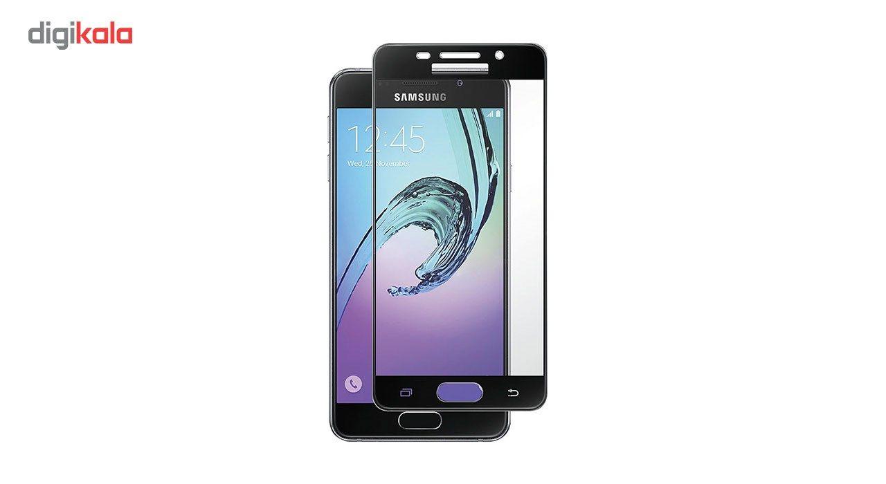 محافظ صفحه نمایش شیشه ای تمپرد مدل Full Cover مناسب برای گوشی موبایل سامسونگ Galaxy A5 2016 main 1 1