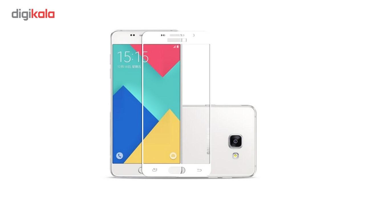 محافظ صفحه نمایش شیشه ای تمپرد مدل Full Cover مناسب برای گوشی موبایل سامسونگ Galaxy A5 2016 main 1 2