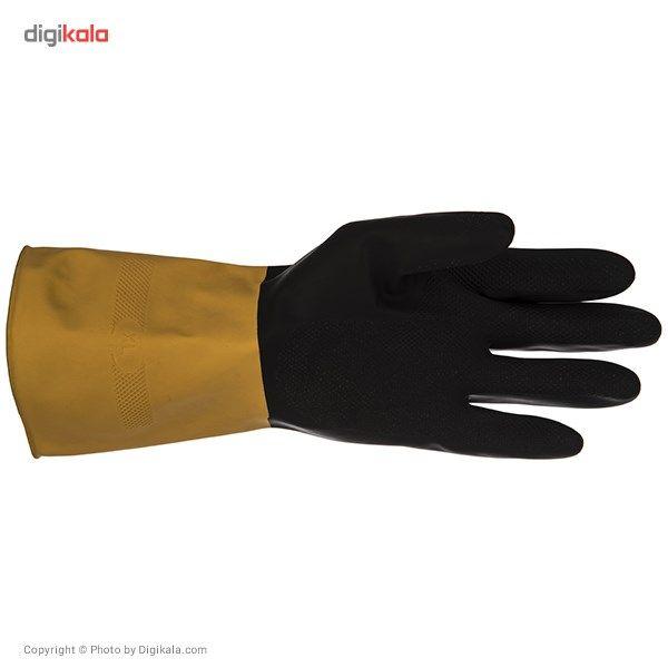 دستکش کار گیلان مدل سه لایه دو رنگ بسته 12 جفتی main 1 2