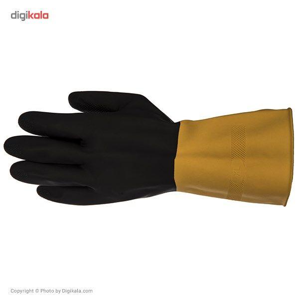 دستکش کار گیلان مدل سه لایه دو رنگ بسته 12 جفتی main 1 3