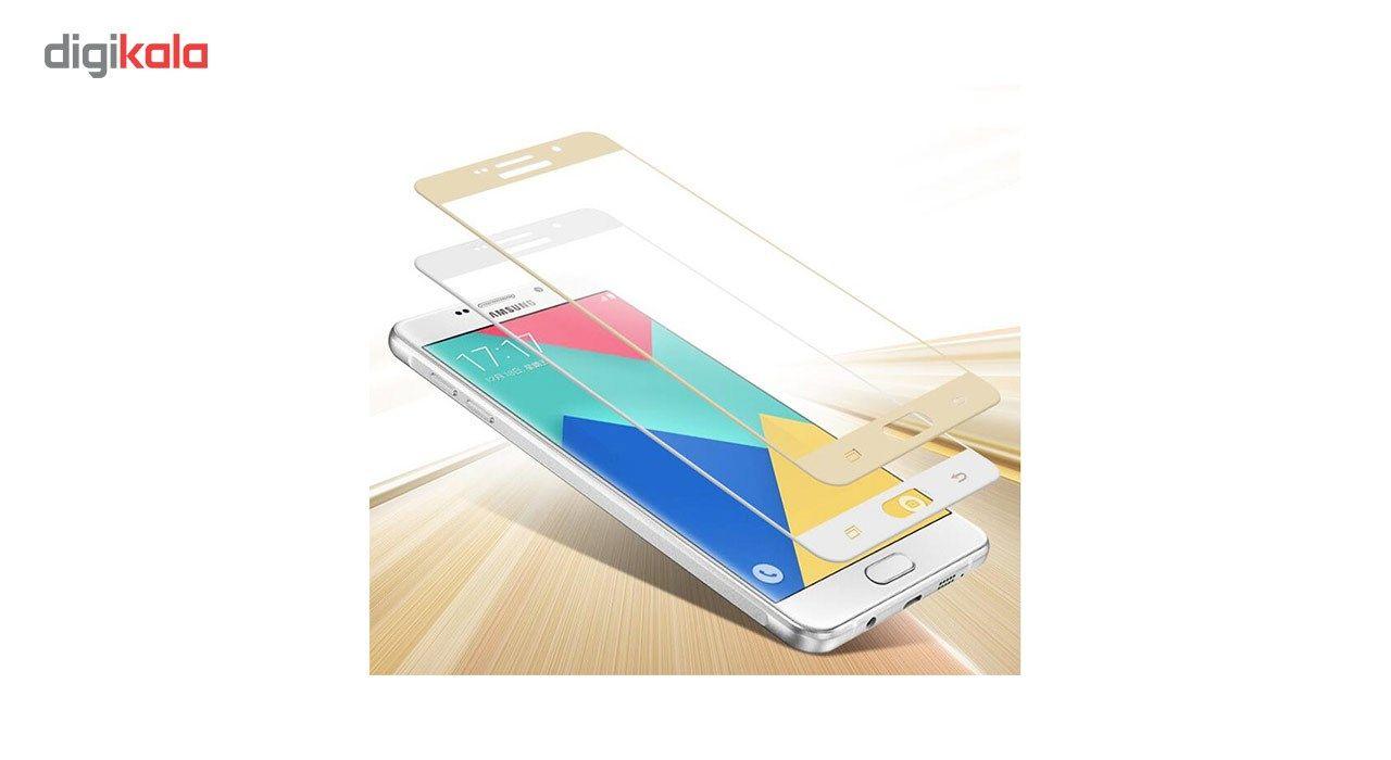 محافظ صفحه نمایش شیشه ای تمپرد مدل Full Cover مناسب برای گوشی موبایل سامسونگ Galaxy A5 2016 main 1 4