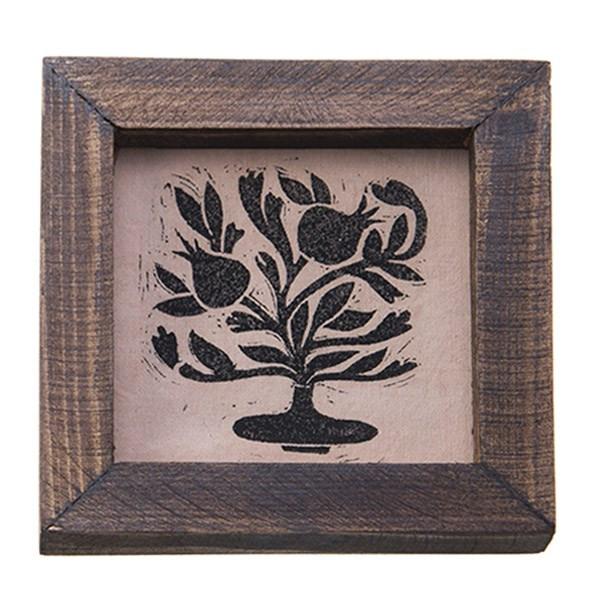 تابلو چوبی چاپ دستی روی پارچه گالری هور نقش 17