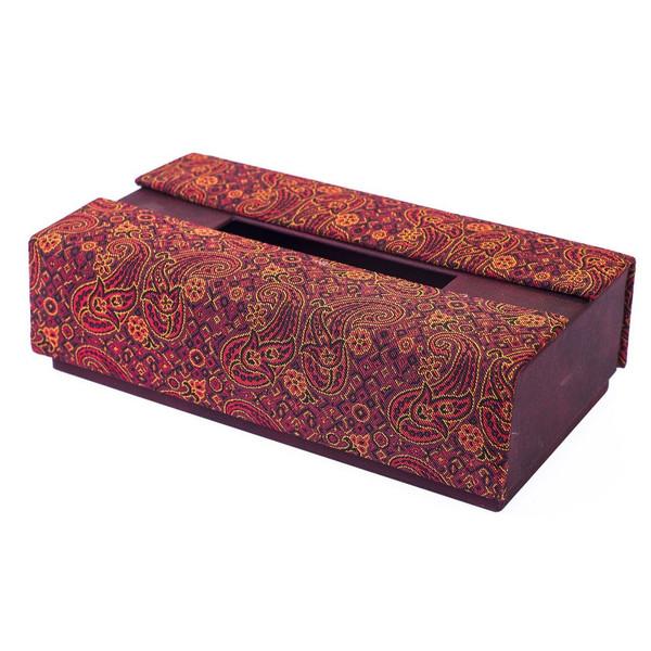 جعبه دستمال کاغذی ترمه سنا طرح زعفران