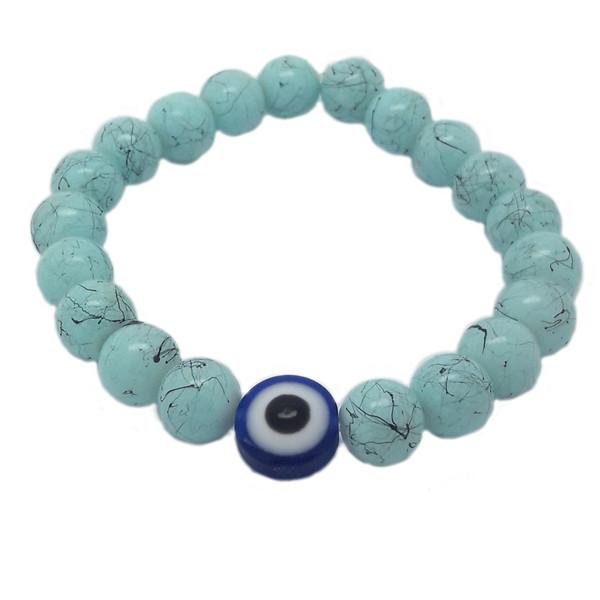 دستبند دخترانه طرح چشم نظر کد DN01