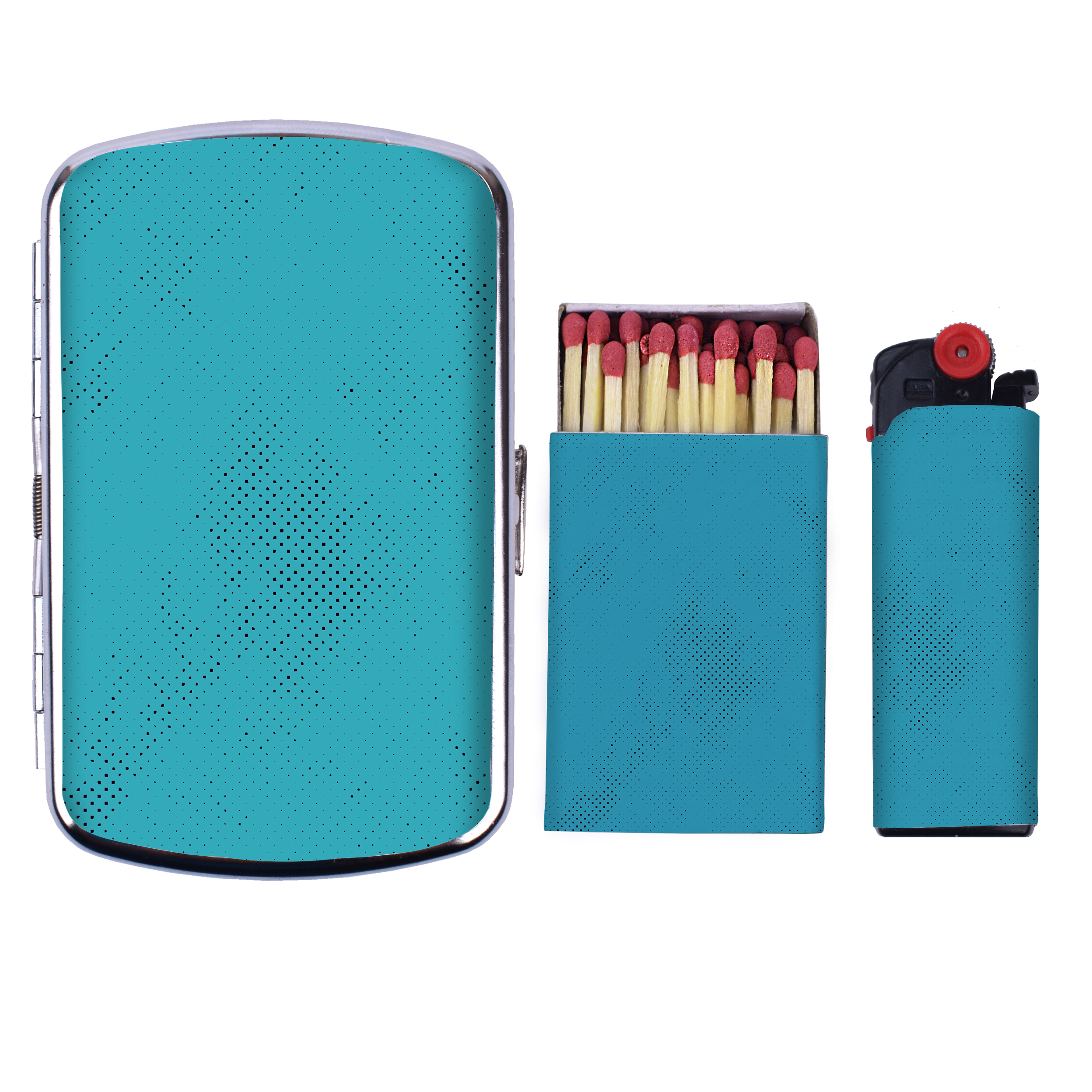 جا سیگاری کد V21 به همراه فندک و کبریت