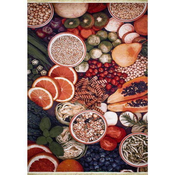 فرش ماشینی افرند طرح میوه آشپزخانه کد 160