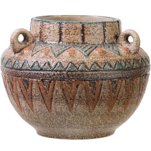 گلدان سفالی کارگاه مهر باستان مدل سه دسته