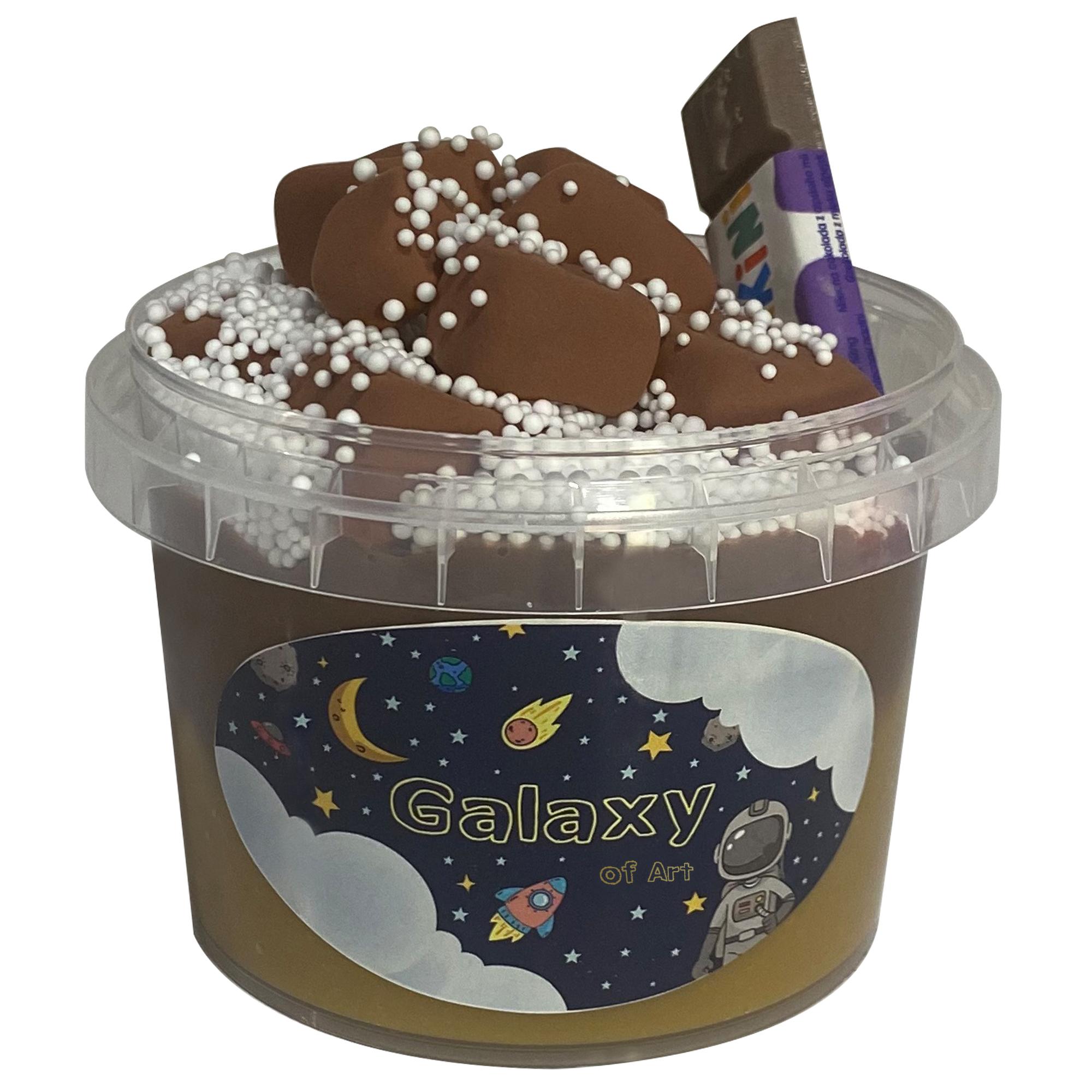 خمیر بازی ژل بازی مدل کهکشان هنر طرح شکلات