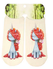 جوراب دخترانه طرح اسب تک شاخ کد SCb59 -  - 2
