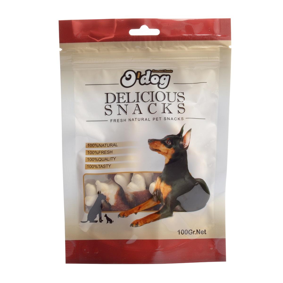 غذای تشویقی سگ اُداگ مدل Beef mince & starch bone وزن ۱۰۰ گرم