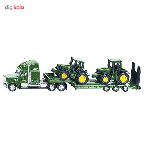 ماشین بازی Siku مدل Low Loader with John Deere Tractors