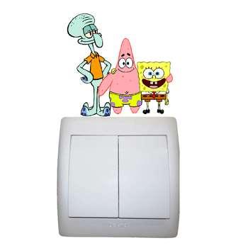 استیکر مستر راد طرح باب اسفنجی و پاتریک و اختاپوس کد 010 SpongeBob