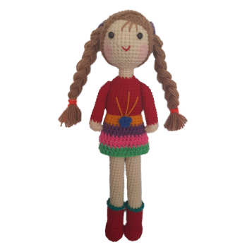 عروسک بافتنی مدل دختر کد 009