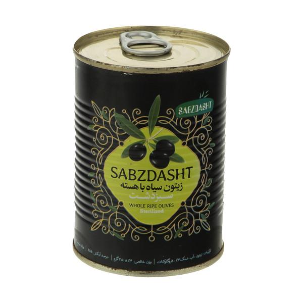 زیتون سیاه با هسته سبز دشت - 380 گرم