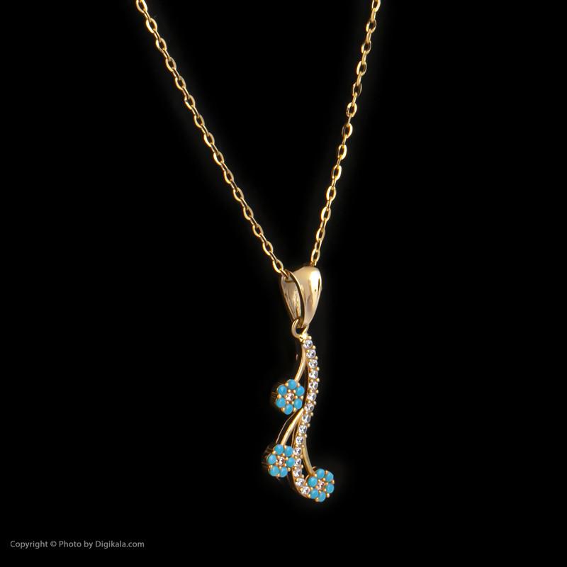 گردنبند طلا 18 عیار زنانه مدیسا مدل N3013