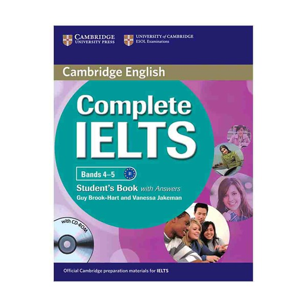 خرید                      کتاب Complete IELTS Bands 4-5 B1 اثر Guy Brook- Hart And Vanessa Jakeman انتشارات Cambridge