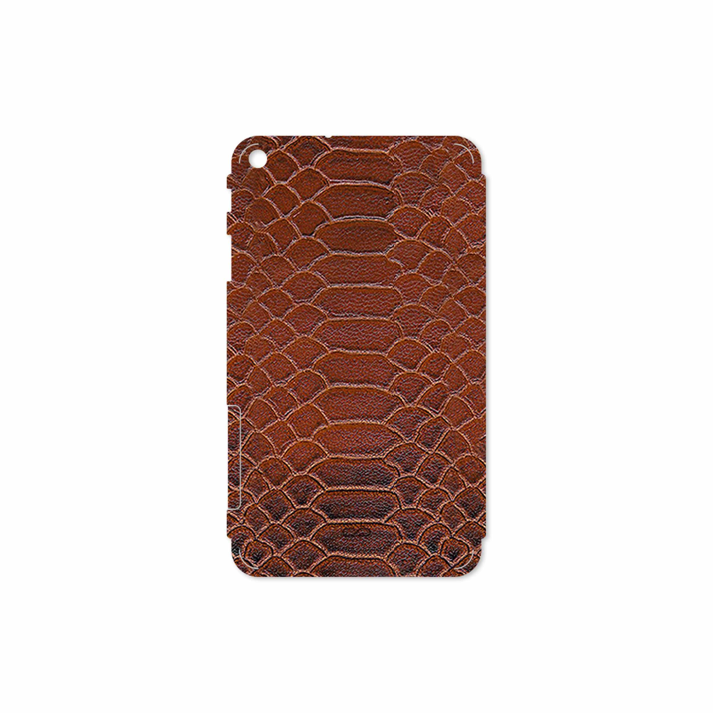 بررسی و خرید [با تخفیف]                                     برچسب پوششی ماهوت مدل Brown-Snake-Leather مناسب برای تبلت هوآوی Mediapad T1 7.0 2015                             اورجینال