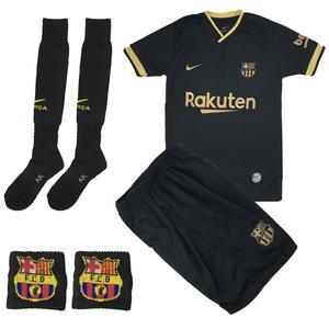 ست 4 تکه لباس ورزشی پسرانه طرح بارسلونا مدل 2021