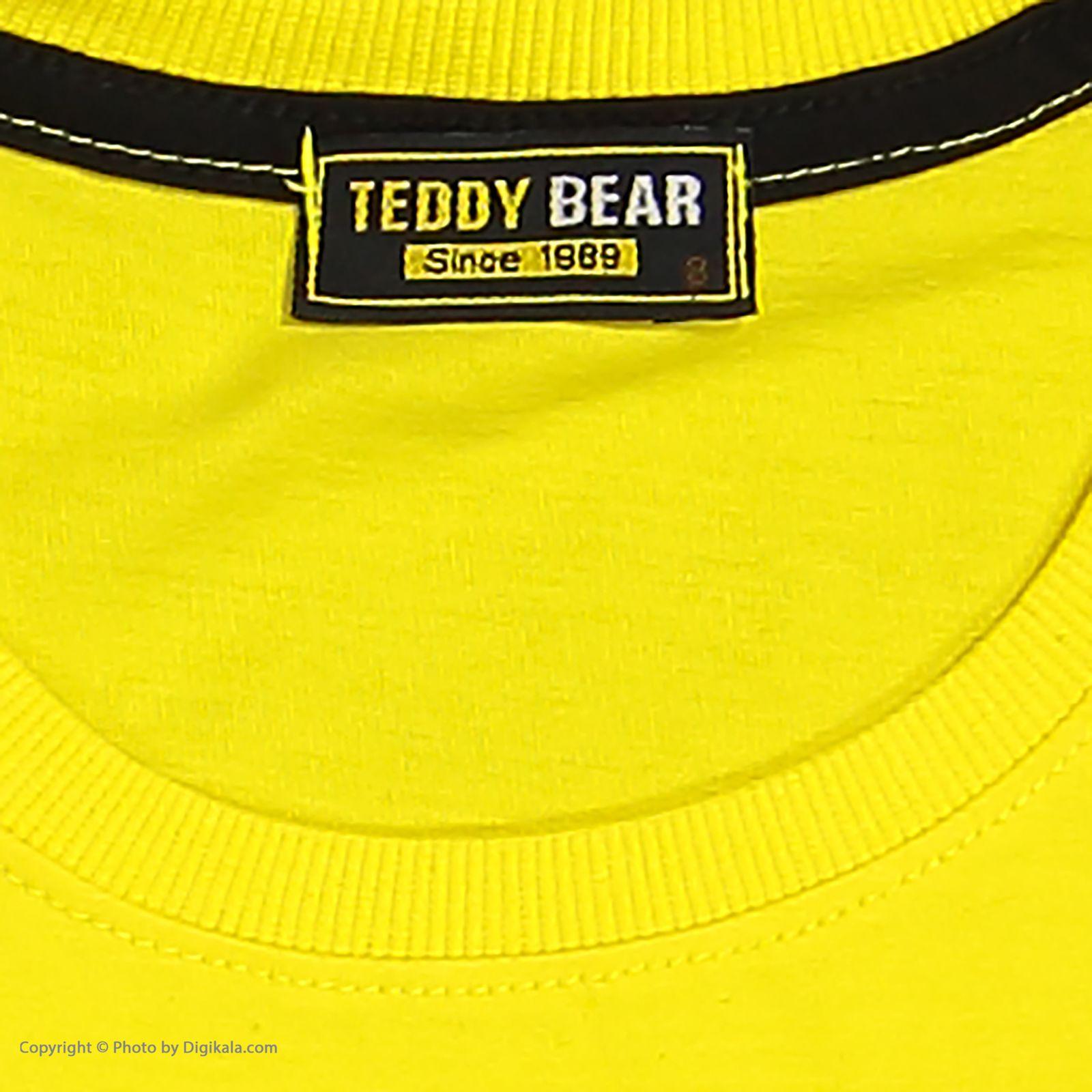 ست تی شرت و شلوارک پسرانه خرس کوچولو مدل 2011220-16 -  - 11