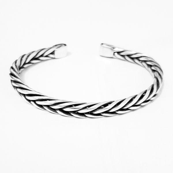 دستبند نقره مردانه کد HN990