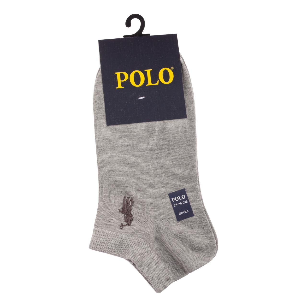 جوراب مردانه مدل P-2020 رنگ طوسی