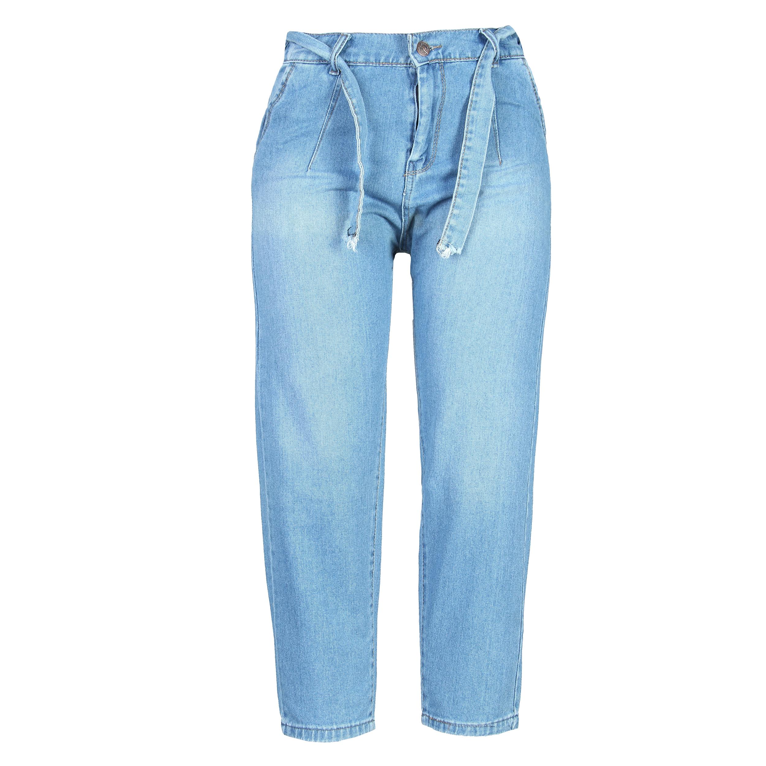 شلوار جین زنانه مدل مام اسمایل کد 10000243
