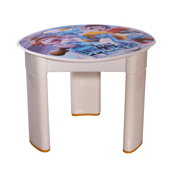 میز کودک مهروز طرح اسمورف ها مدل SF-0016