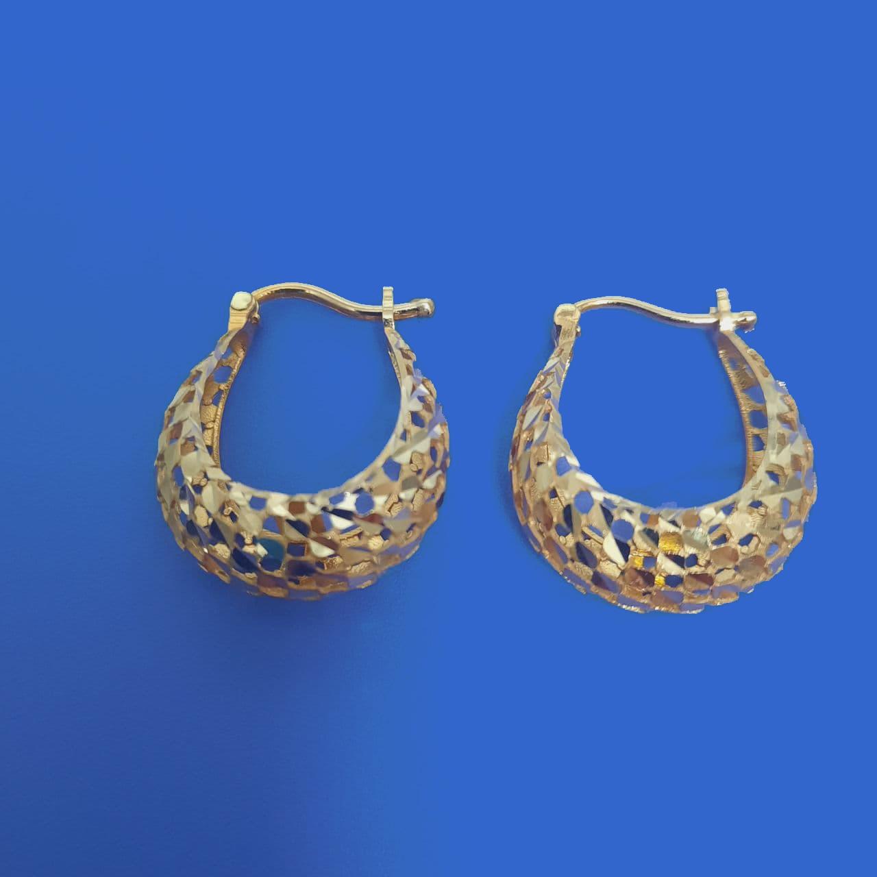 گوشواره طلا 18 عیار زنانهگالری یارطلا کد AGF35