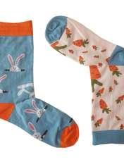 جوراب ال سون طرح هویج و خرگوش مدل مادر و کودککد PH406 -  - 4