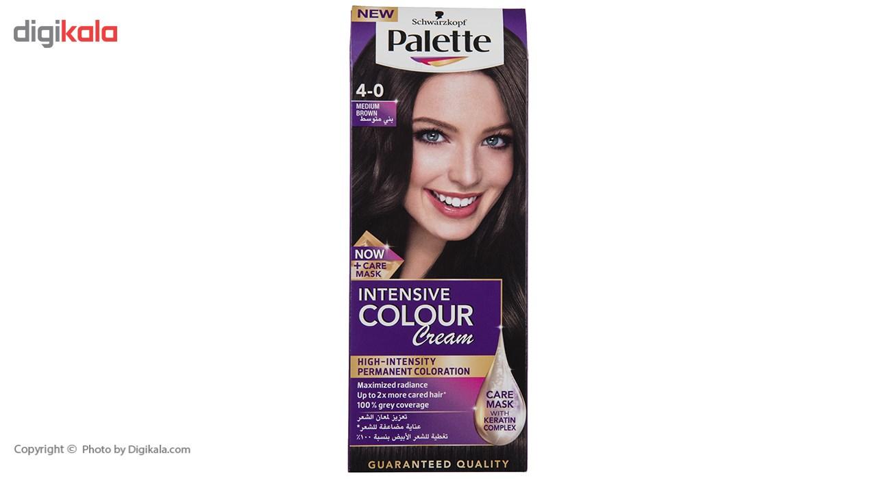 کیت رنگ موی پلت سری Intensive مدل Medium Brown شماره 0-4
