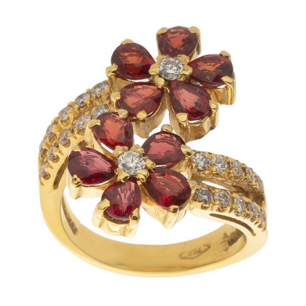 انگشتر طلا 18 عیار زنانه مایا ماهک مدل MR0506