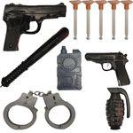 تفنگ بازی مدل پلیس کد p1 مجموعه 11 عددی thumb