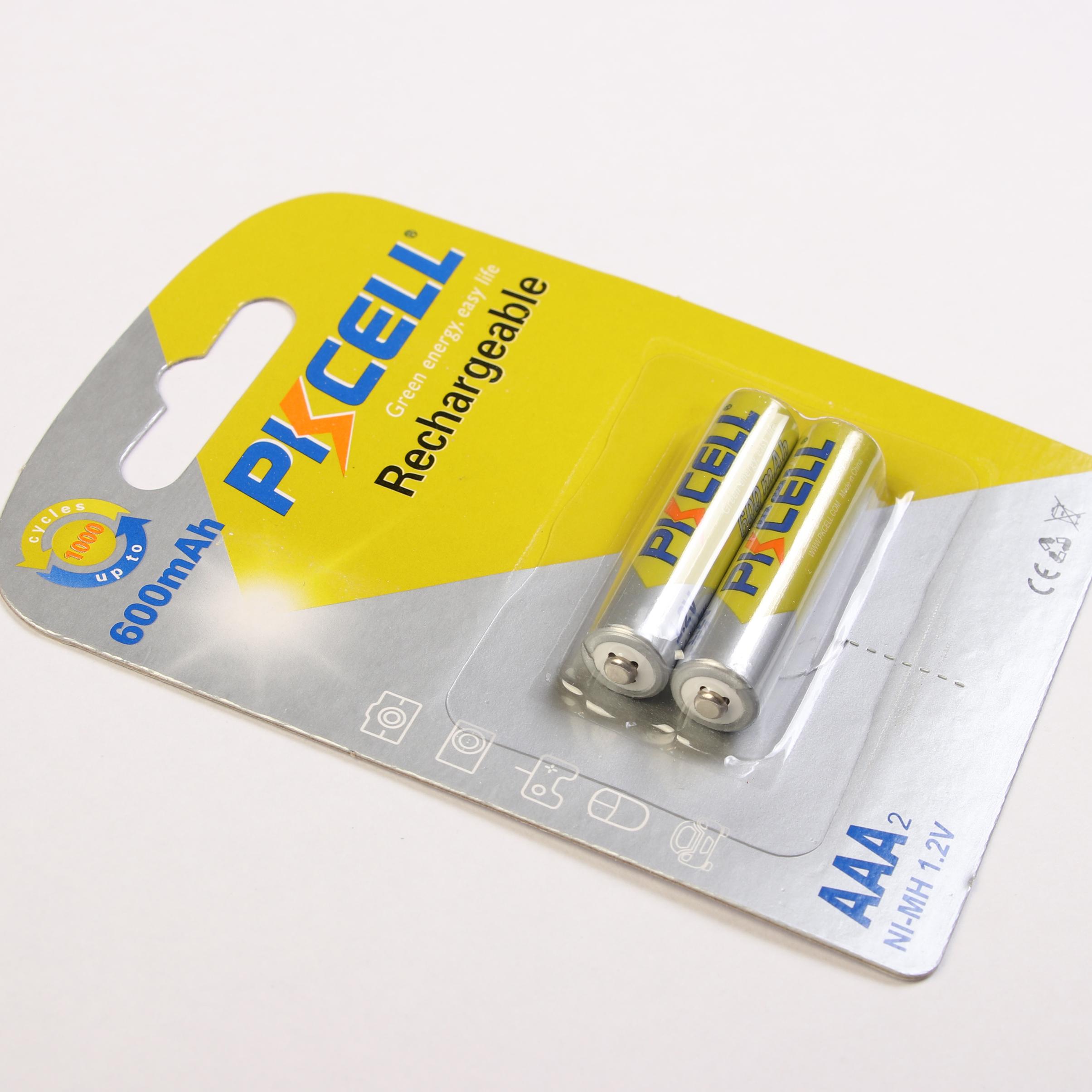 باتری نیم قلمی قابل شارژ پیکسل مدل Green Energy 600 بسته 2 عددی