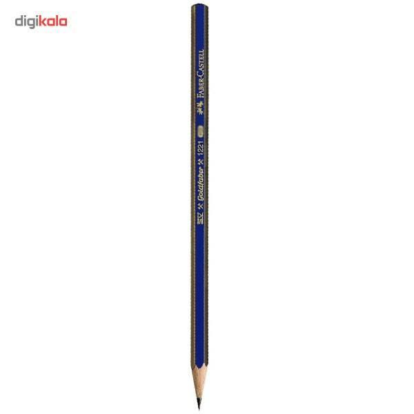 مداد طراحی فابر کاستل مدل گلد فابر با درجه سختی نوک 6B main 1 1